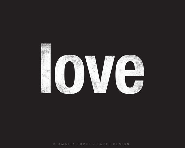 Love print. Black typography print - Latte Design  - 5