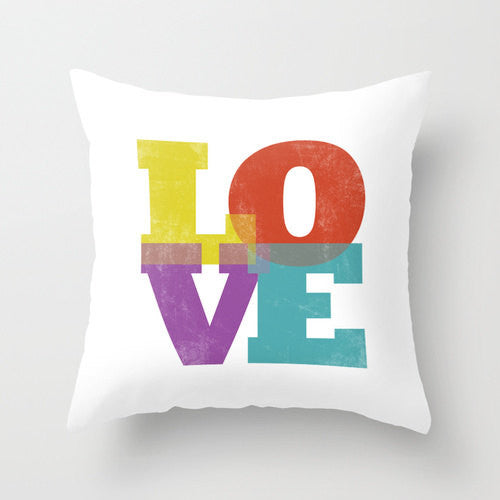 Love typography pillow - Latte Design  - 1