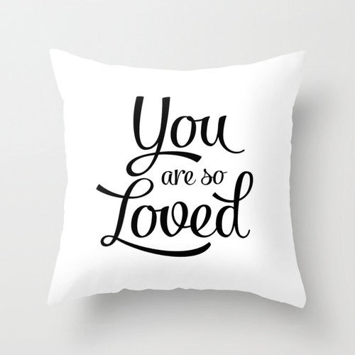 You are so loved pillow. Blue - Latte Design  - 2