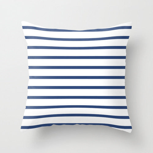 Set of 2 Nautical cushions. Navy blue and white stripes cushions - Latte Design  - 3