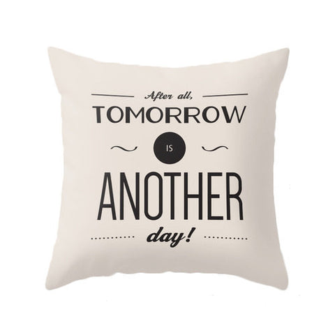 After all tomorrow is another day. Cream Gone with the wind quote pillow - Latte Design  - 1