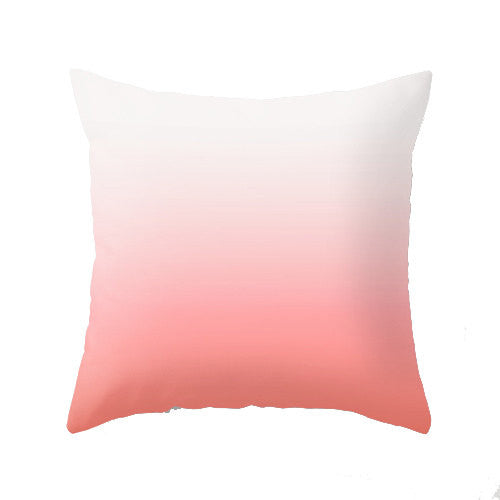 Turquoise ombre cushion - Latte Design