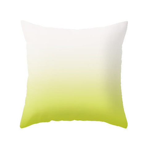 Lime green ombre pillow - Latte Design  - 1