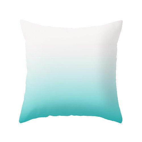 Turquoise ombre pillow - Latte Design  - 1