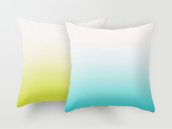 Turquoise ombre pillow - Latte Design  - 5