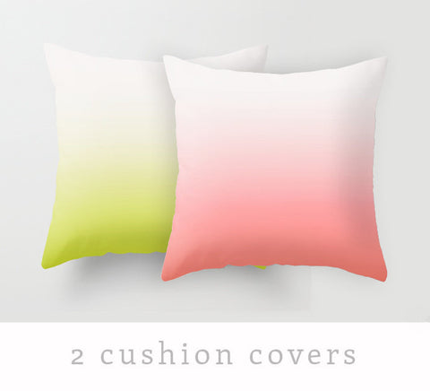 2 gradient pillow covers - Latte Design  - 1