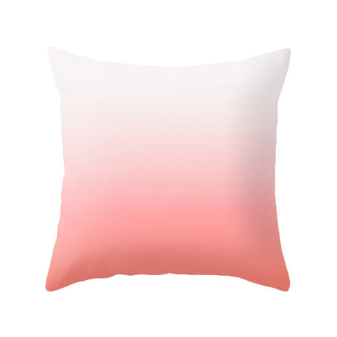 Coral red ombre throw cushion - Latte Design