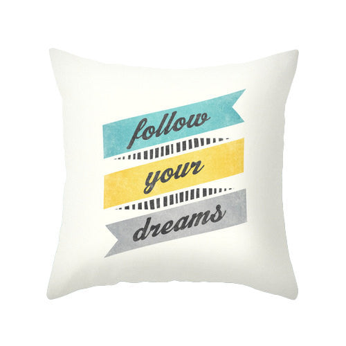 Follow your dreams pillow - Latte Design  - 1