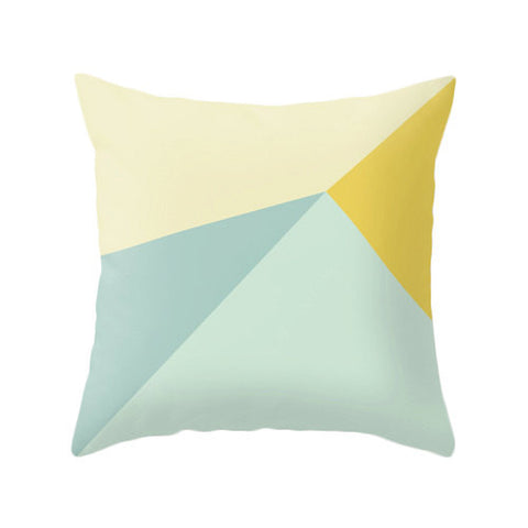 Mint and yellow cushion cover - Latte Design  - 1