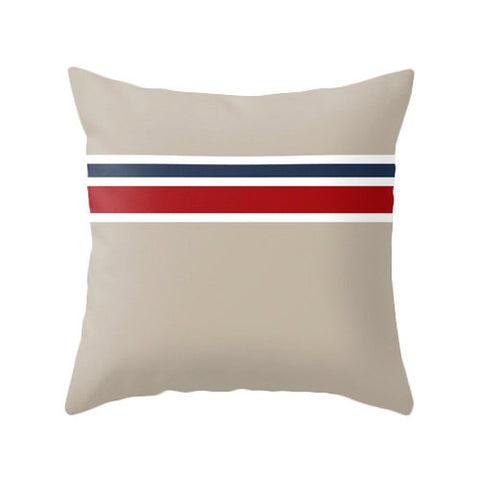 Nautical stripes taupe cushion - Latte Design  - 1