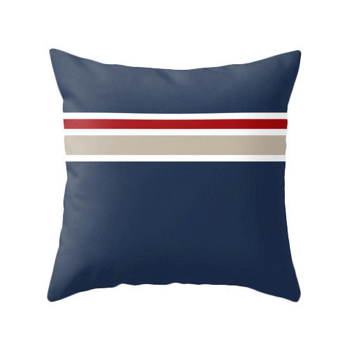 Red Nautical pillow - Latte Design  - 2