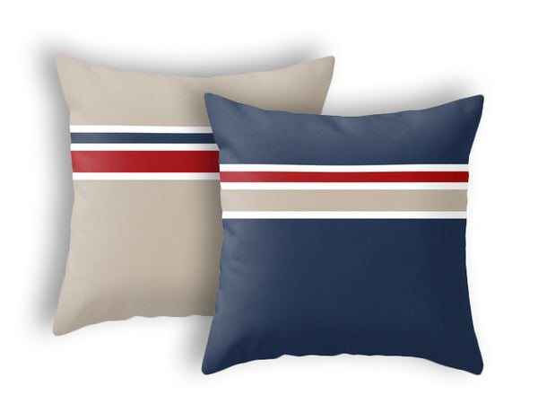 Red Nautical pillow - Latte Design  - 4