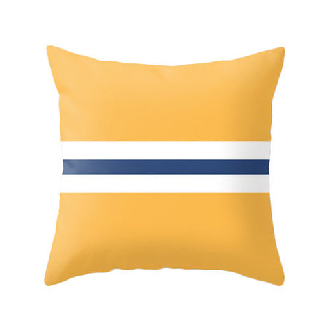 Yellow nautical cushion - Latte Design  - 1