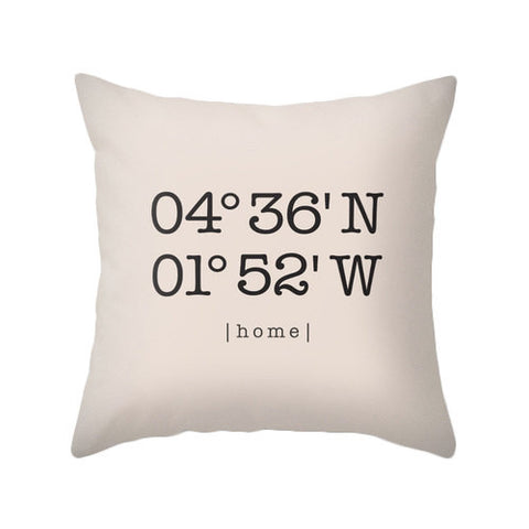 Cream custom coordinates cushion - Latte Design