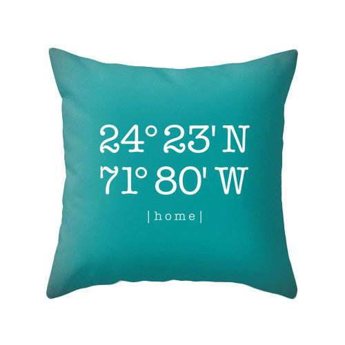Yellow Custom home location pillow - Latte Design  - 3