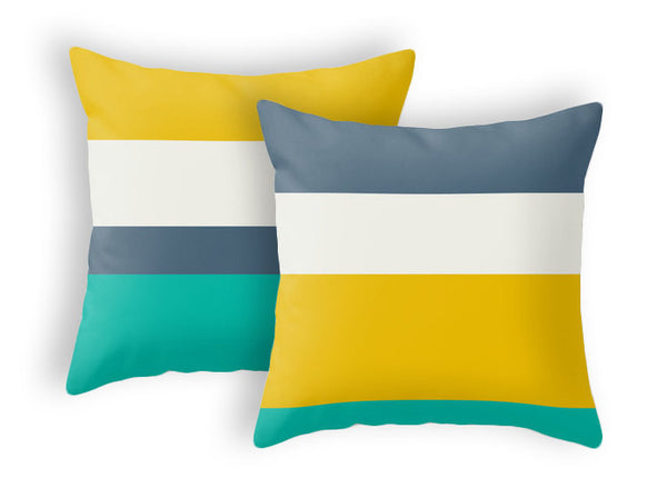 Striped throw pillow - Latte Design  - 2