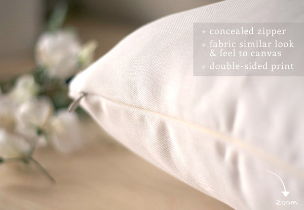 Gray and white handwriting poem pillow - Latte Design  - 3