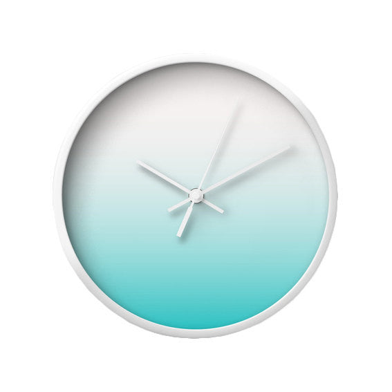 Turquoise gradient wall clock - Latte Design  - 1