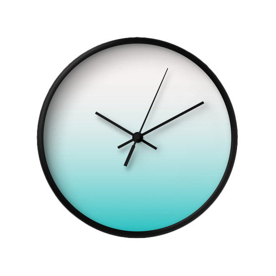Turquoise gradient wall clock - Latte Design  - 2