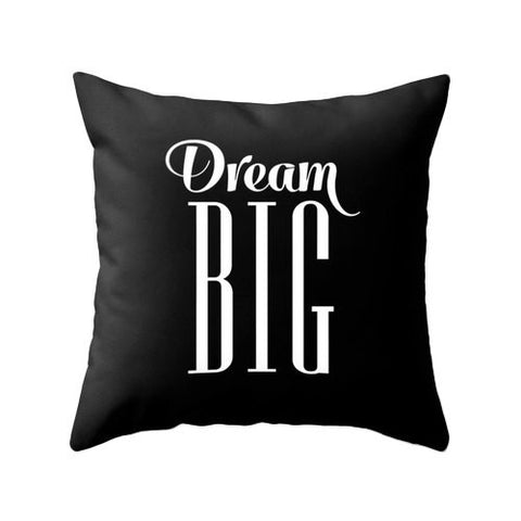 Dream big pillow. Black - Latte Design  - 1