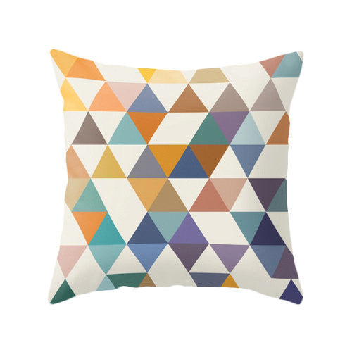 Triangles 2. Geometric pillow - Latte Design  - 1