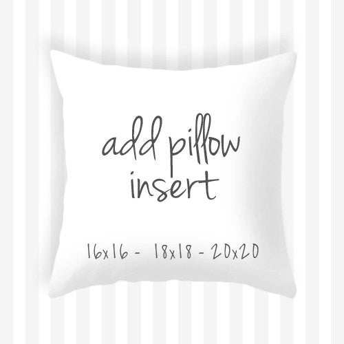 Add an Insert to your pillow - Latte Design