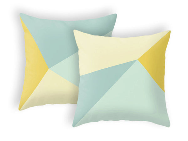 Mint and yellow cushion cover - Latte Design  - 4