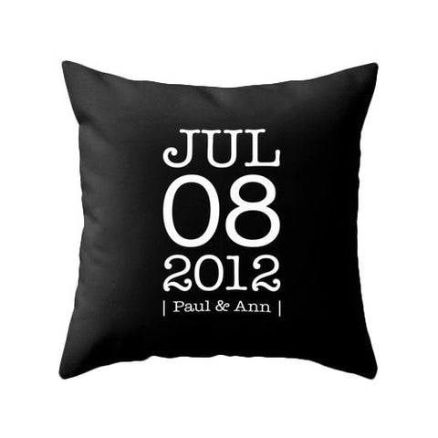 Personalized Custom Anniversary pillow Personalized pillow customized cushion cover wedding anniversary gift personalized anniversary pillow - Latte Design  - 1