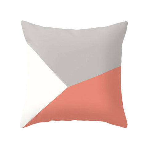 Grey and coral red cushion - Latte Design  - 1