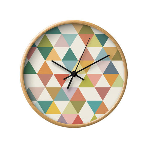 Triangles 3. Geometric wall clock - Latte Design