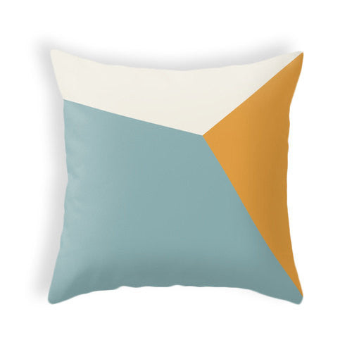 SET of 2 teal and orange geometric pillows - Latte Design  - 3