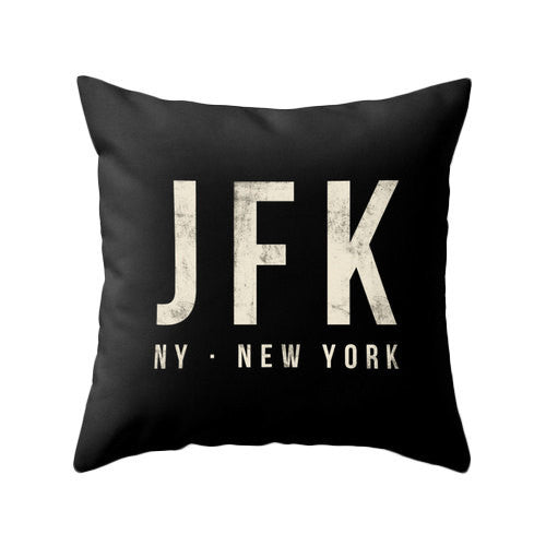 Los Angeles airport pillow black home decor lax throw pillow Los Angeles pillow lax cushion lax pillow cover jfk airport lax airport - Latte Design  - 2