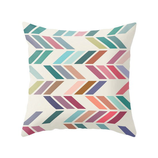 Slanted 1. Geometric pillow - Latte Design  - 1