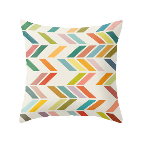 Slanted 3. Geometric pillow - Latte Design  - 1