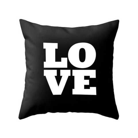 Love throw pillow cover. San Valentine's pillow love throw pillow typography cushion love Valentine's day gift San Valentine's pillow - Latte Design  - 1