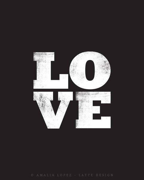 Love print. Black typographic - Latte Design  - 5