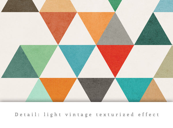 Triangles 8. Mid-century Geometric print. LD10003 - Latte Design  - 5
