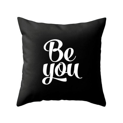 Be you turquoise pillow - Latte Design  - 2