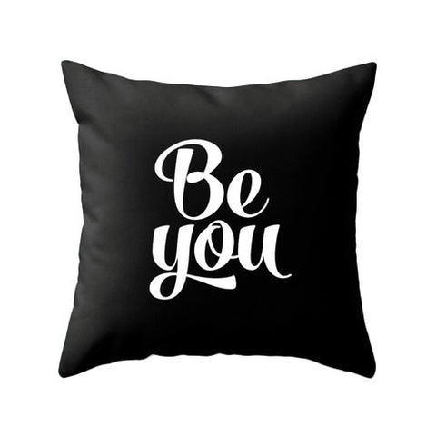 Be you Black pillow - Latte Design  - 1