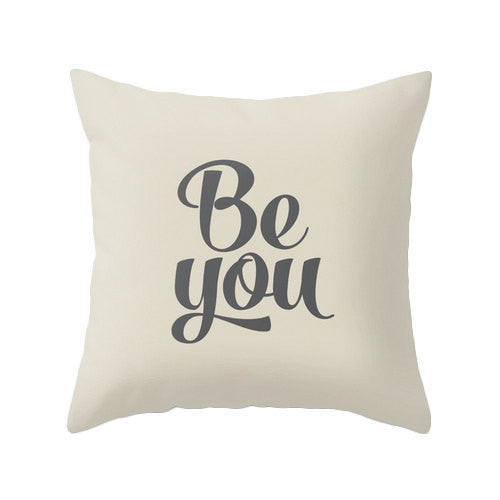 Be you pillow cover. Teal typography throw pillow teal pillow Motivational cushion be you cushion be you pillow teal decor teal cushion - Latte Design  - 3