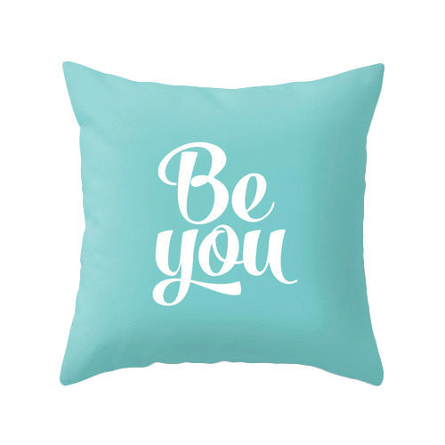 Be you turquoise pillow - Latte Design  - 1