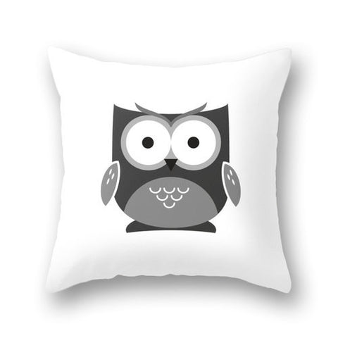 Owl pillow cover. Black and white nursery pillow White nursery decor black and white baby decor baby owl decor owl pillow owl cushion - Latte Design  - 1