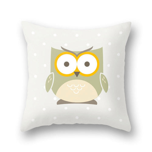 Owl pillow cover. Nursery pillow Nursery owl decor baby owl decor Nursery owl pillow green nursery pillow green Nursery cushion owl cushion - Latte Design  - 3