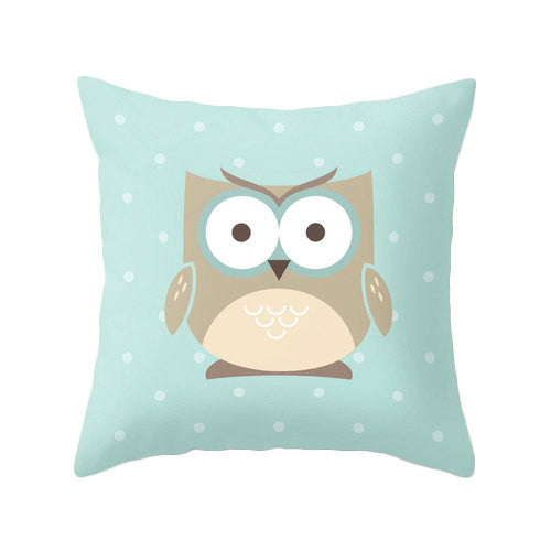 Owl pillow cover. Nursery pillow Nursery owl decor baby owl decor Nursery owl pillow green nursery pillow green Nursery cushion owl cushion - Latte Design  - 2