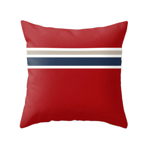 Red Nautical pillow - Latte Design  - 1