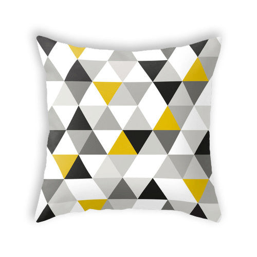 Black and white triangles pillow. - Latte Design  - 1