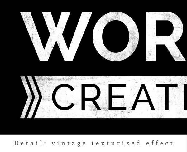 Live work create. Black and white typography print - Latte Design  - 6
