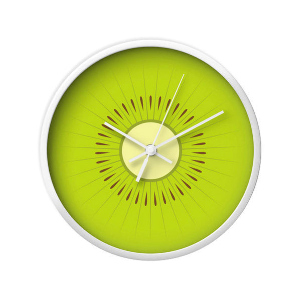 Kiwi wall clock. Green kitchen wall clock - Latte Design  - 3