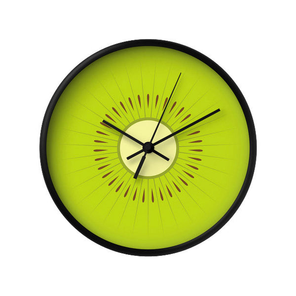 Kiwi wall clock. Green kitchen wall clock - Latte Design  - 2
