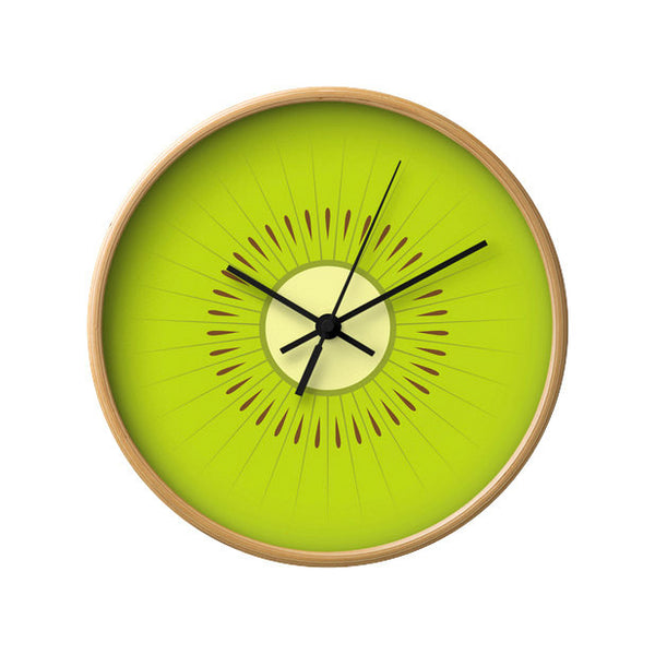 Kiwi wall clock. Green kitchen wall clock - Latte Design  - 1